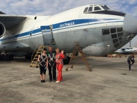 August 26, 2015 was organized a Zero Gravity flight board a group fight board a IL-76 MDK aircraft!